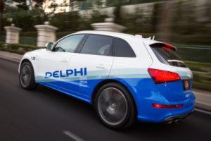Компания Delphi представила усовершенствованный беспилотный автомобиль на выставке CES. Новая версия дополнена технологией V2E