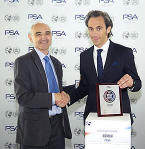 Dayco получила премию Best Plant Award Группы PSA