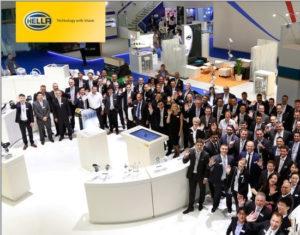 Международная команда HELLA KGaA Hueck&Co на выставке Автомеханика-2016