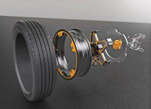 Інноваційна концепція коліс та гальм для електромобіля від Continental