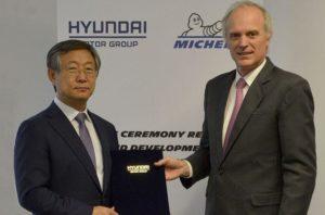 Компании Michelin и Hyundai планируют совместно разрабатывать шины для электрических автомобилей