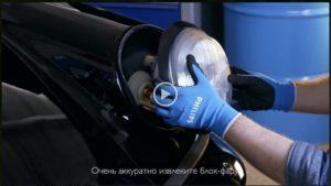 Видеообзор установка галогенных ламп Philips RacingVision + 150% на автомобиль Porsche 911