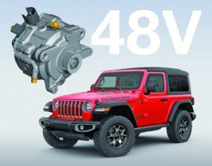 Технологія eTorque від Continental в гібридному двигуні Jeep Wrangler