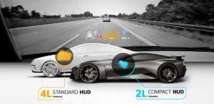 Проекционный дисплей для спорткаров от Continental