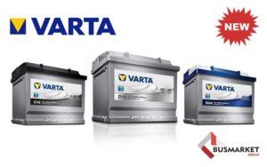 BusMarket Group розширили свій асортимент акумуляторними батареями від бренду Varta
