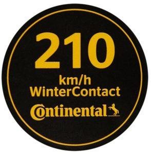 Не забувайте наліпку швидкості для зимових шин