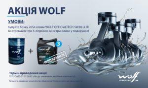 Акцію Wolf продовжено до кінця місяця