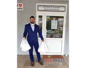 Допомога KIAPARTS медпрацівникам Кременчука в боротьбі з COVID-19