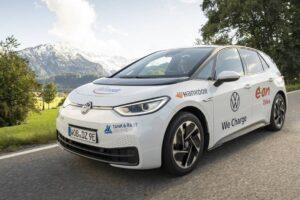 Пробег на электромобиле Volkswagen ID.3 с новыми зимними шинами i*cept evo 3 от Hankook