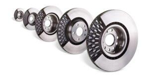Гальмівні диски з різними типами вентиляції