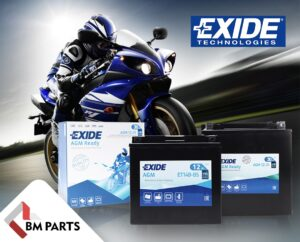Акумулятори Exide для мототехніки в асортименті BM Parts