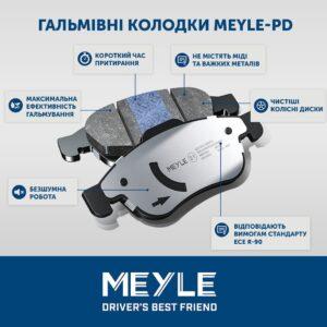 Гальмівні колодки MEYLE-PD